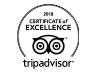 TRIP ADVISOR CERTIFICATE OF EXCELLENCE, 2018